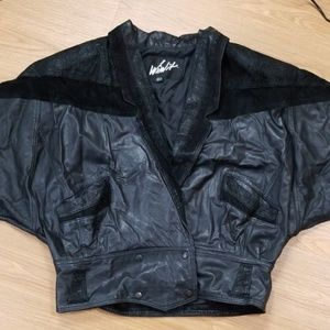 Vintage 80s Black Leather jacket | Winlit